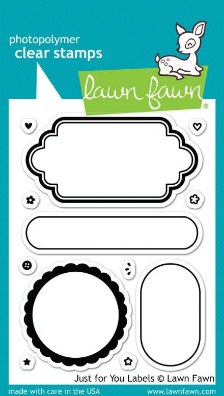 LF1132 M ~ JUST FOR YOU LABELS ~ CLEAR STAMPS BY LAWN FAWN